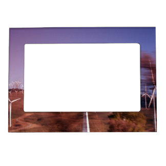 Windmills in motion photo frame magnet