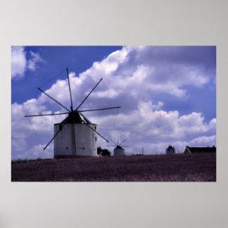 Windmills in Portugal Print