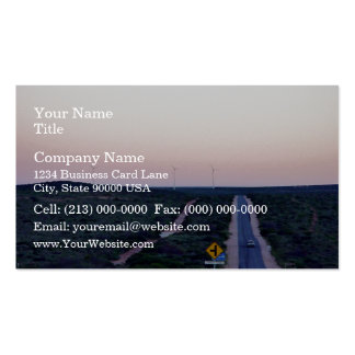 Windmills in the early morning light business card template