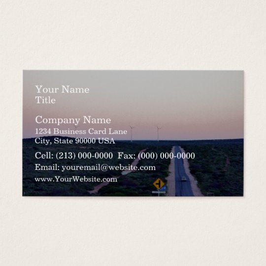 Windmills in the early morning light business card