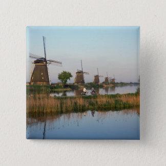Windmills, Kinderdijk, Netherlands Button