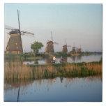 Windmills, Kinderdijk, Netherlands Ceramic Tiles
