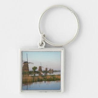 Windmills, Kinderdijk, Netherlands Keychain
