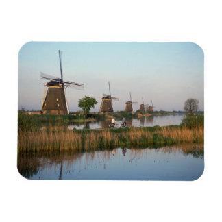 Windmills, Kinderdijk, Netherlands Rectangular Photo Magnet