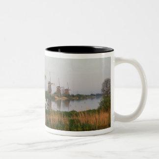 Windmills, Kinderdijk, Netherlands Two-Tone Coffee Mug