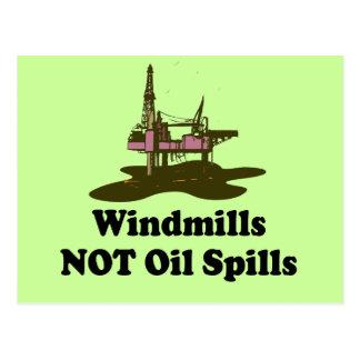WINDMILLS NOT OIL SPILLS POSTCARD