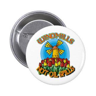 WindMills Not Oil Spills T shirts 2 Inch Round Button