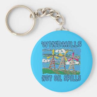 Windmills Not Oil Spills Tshirts Basic Round Button Keychain