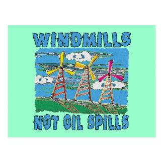 Windmills Not Oil Spills Tshirts Postcard