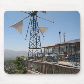 Windmills of Crete Mouse Pad