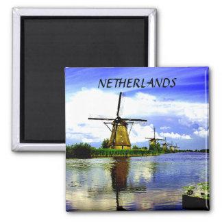 WINDMILLS OF KINDERDIJK, NETHERLANDS MAGNETS