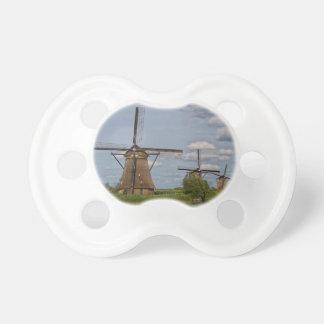 windmills of Kinderdijk world heritage site Pacifier