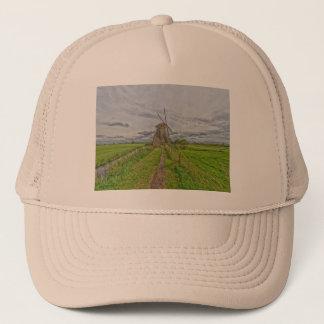 windmills of Kinderdijk world heritage site Trucker Hat