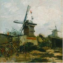 Windmills on Montmartre by Vincent Van Gogh Cutout