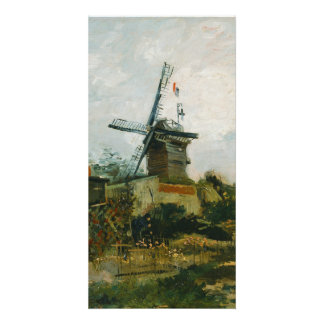 Windmills on Montmartre by Vincent Van Gogh Customized Photo Card