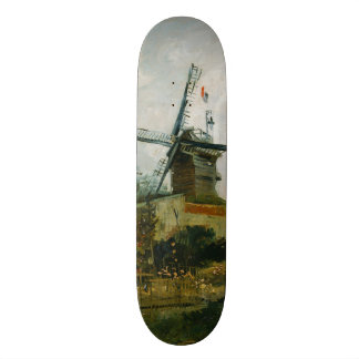 Windmills on Montmartre by Vincent Van Gogh Skateboard
