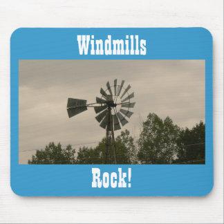 Windmills Rock! Mouse Pad