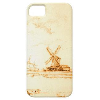 Windmills Zaandam Holland 1897 iPhone SE/5/5s Case
