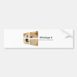 Windoge 8 bumper sticker