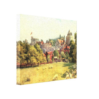 Windor Castle from the Fields, Berkshire, England Gallery Wrapped Canvas