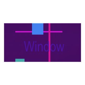 Window 2 Dark Purple Picture Card