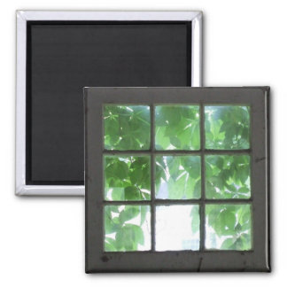 Window 2 Inch Square Magnet