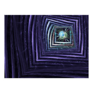 Window Abstract Fractal Poster