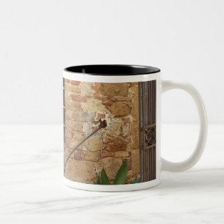 Window and ancient stone wall, Pienza, Italy Two-Tone Coffee Mug