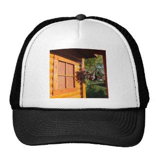 Window and Flower Basket Trucker Hat