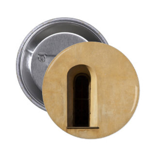 Window and Stucco Pinback Button