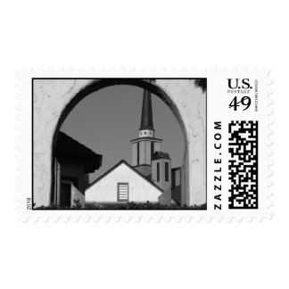 Window Arch Postage Stamp