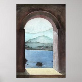 Window At Crete Poster