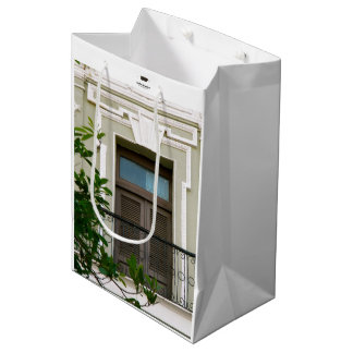 Window at Old San Juan, Puerto Rico Green Medium Gift Bag