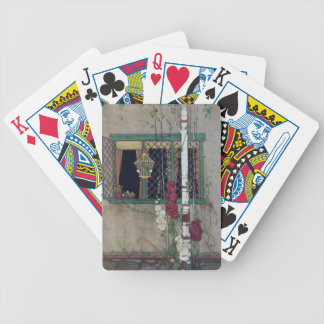 Window, Birdcage and Flowers Vintage Home Bicycle Playing Cards