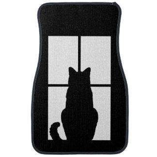 Window Black Cat Click to Customize a color decor Car Mat