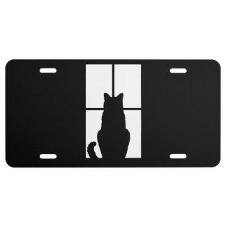 Window Black Cat Click to Customize a color decor License Plate