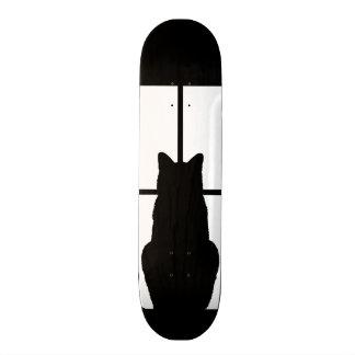 Window Black Cat Click to Customize a color decor Skateboard