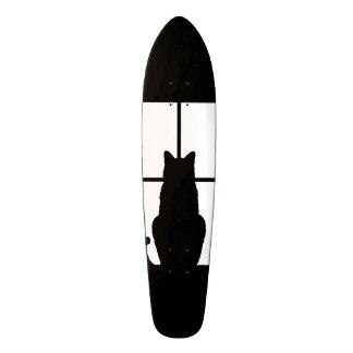 Window Black Cat Click to Customize a color decor Skateboard Deck