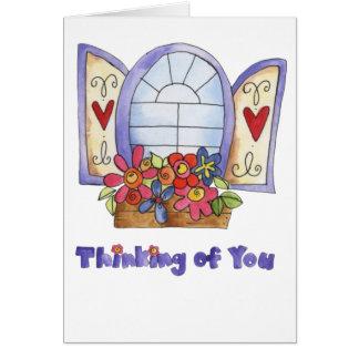 Window Box Greeting Card