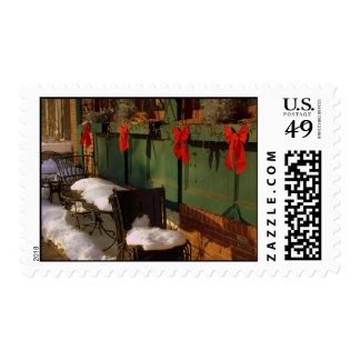 Window Box with ribbons Postage Stamps