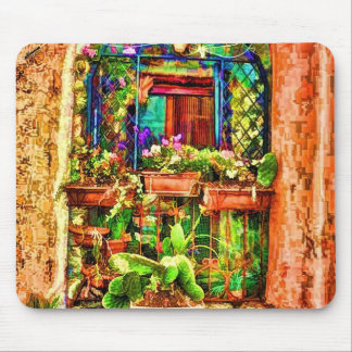 Window Boxes in Italy Mouse Pad
