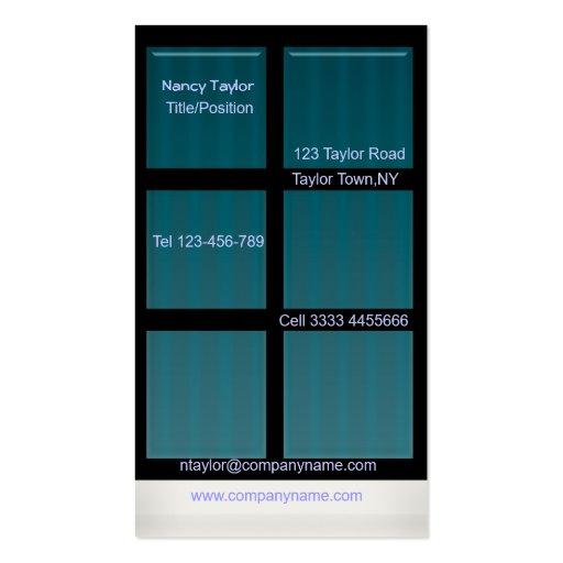 window business card template zazzle