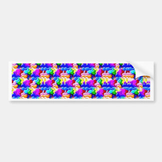 window butterfly stereogram bumper sticker