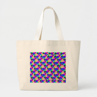 window butterfly stereogram large tote bag