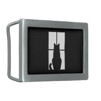 Window Cat Click to Customize Color Decor Belt Buckle