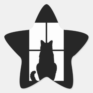Window Cat Click to Customize Color Decor Star Sticker