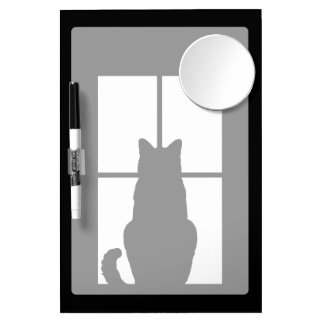 Window Cat Click to Customize Get any color decor Dry Erase Board With Mirror