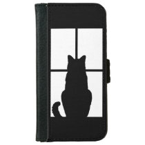 Window Cat Click to Customize Get any color decor iPhone 6/6s Wallet Case