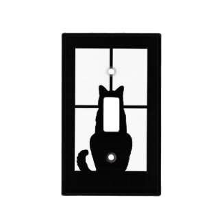 Window Cat Click to Customize Get any color decor Switch Plate Covers