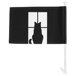 Window Cat Click to Customize Get any color decor Car Flag